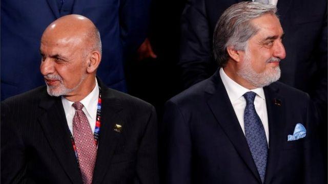 Ашраф Гани и Абдулла Абдулла на общем фото мировых лидеров, приехавших на саммит НАТО в Варшаву