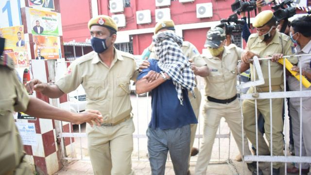 Bibekananda Biswal after his arrest