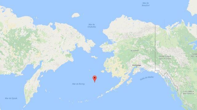 Mapa Mar de Bering