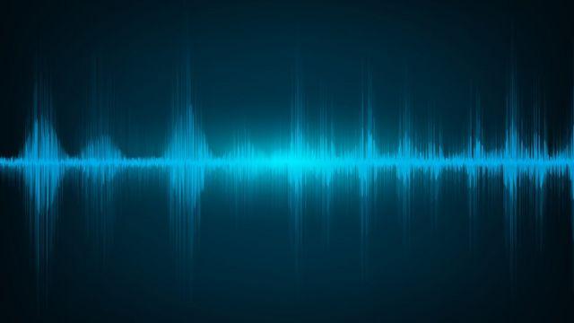 Bir ses kaydından gelen ses dalgaları