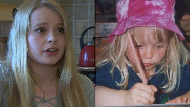 Emily Dix now and when she was at the school