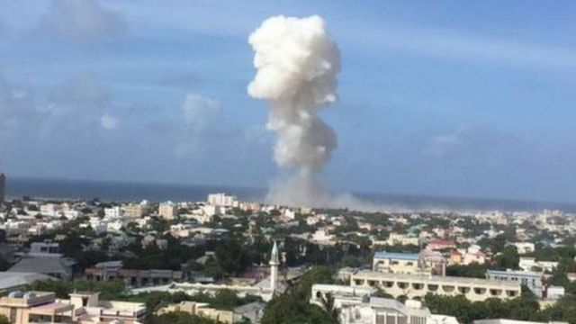 Plume of smoke from Mogadishu blast