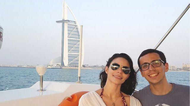 Casal capixaba Marco Rangel e Jana de Ameixa optou por trocar Istambul, na Turquia, por Dubai, nos Emirados Árabes Unidos