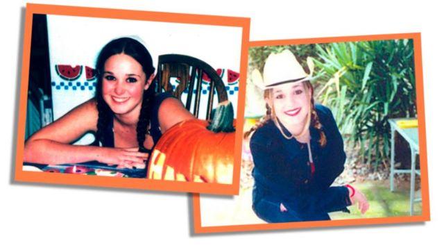 Duas fotos de Erica Harvey adolescente