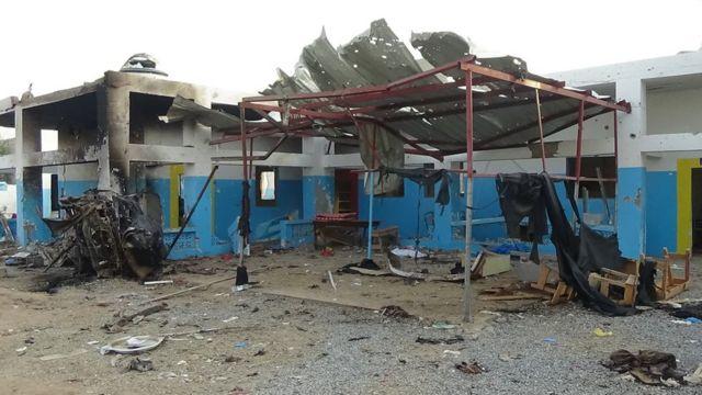 Un hôpital a été partiellement détruit; la semaine dernière, dans la ville d'Abs, au Nord du pays, par les frappes aériennes de la coalition menée par l'Arabie saoudite.