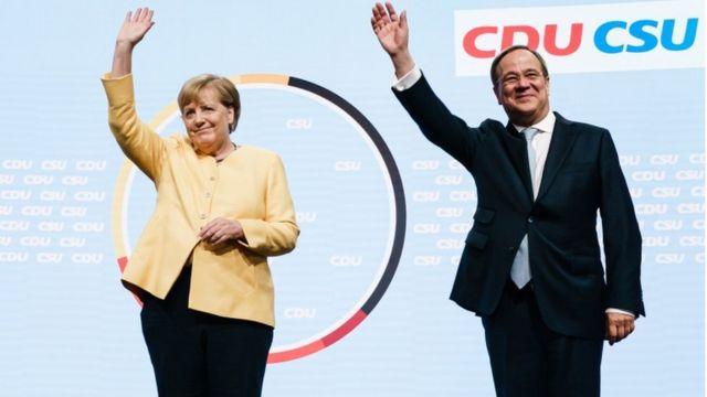 Армін Лашет та Меркель