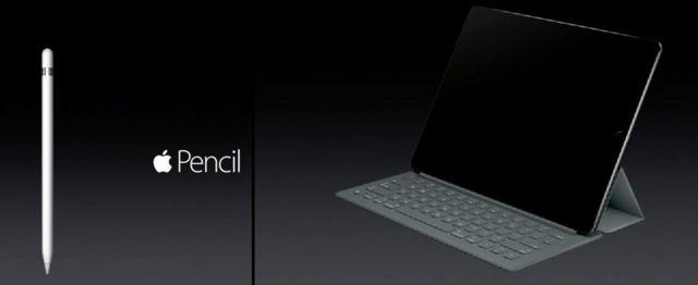 アップルが9日発表した大型画面の「iPad Pro」と入力用ペン