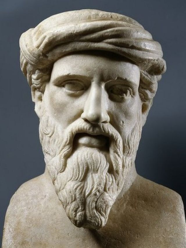 Marble bust of Pythagoras of Samos
