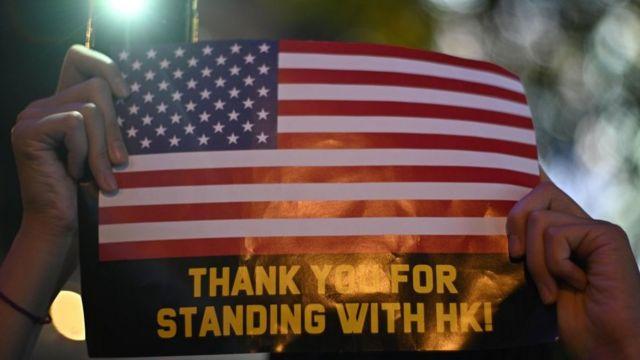 Người biểu tình Hong Kong 'cám ơn Mỹ đã ủng hộ'