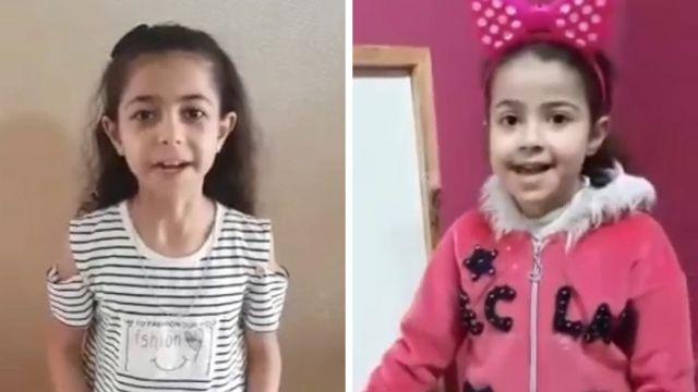 9 yaşındaki Yara (solda) ve 5 yaşındaki Rula (sağda) Pazar günü bazı aile üyeleriyle birlikte hayatını kaybetti