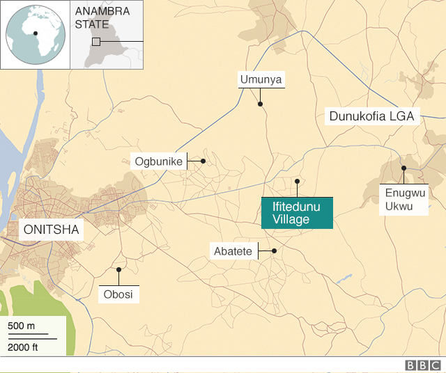 Map of Dunukofia Local Goment Area for Anambra State