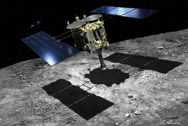 Ilustración de la sonda Hayabusa 2
