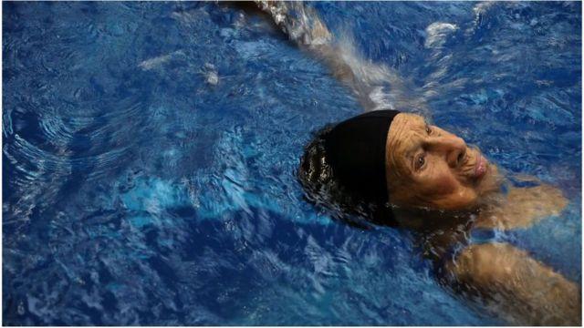 Senior Games Swimmer
