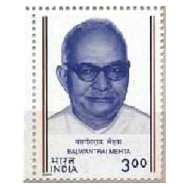 गुजरात के तत्कालीन मुख्यमंत्री बलवंतराय मेहता.
