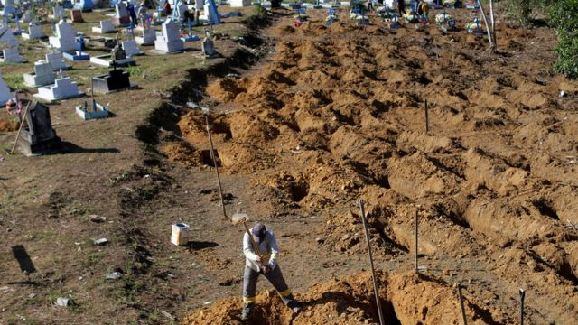 Cemitério onde vítimas serão enterradas
