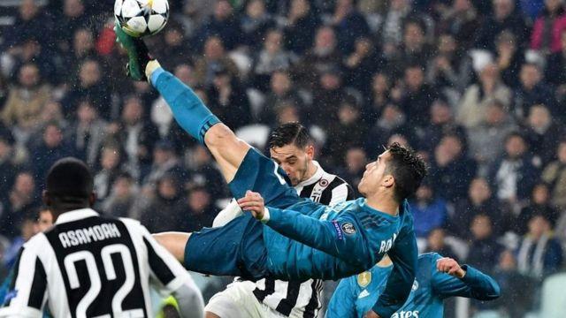 Ronaldo anotando de chilena