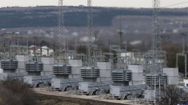 Ukraynada elektrik stansiyası