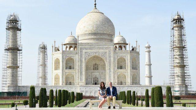 The Duke and Duchess of Cambridge at the Taj Mahal