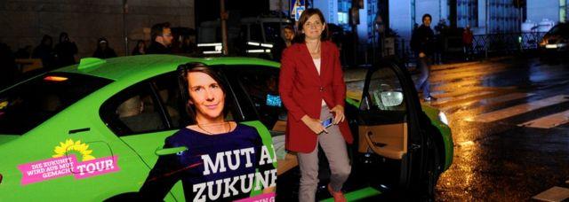 """Катрин Гёринг-Эккардт, одна из лидеров """"зеленых"""", продвигает идеи защиты окружающей среды"""