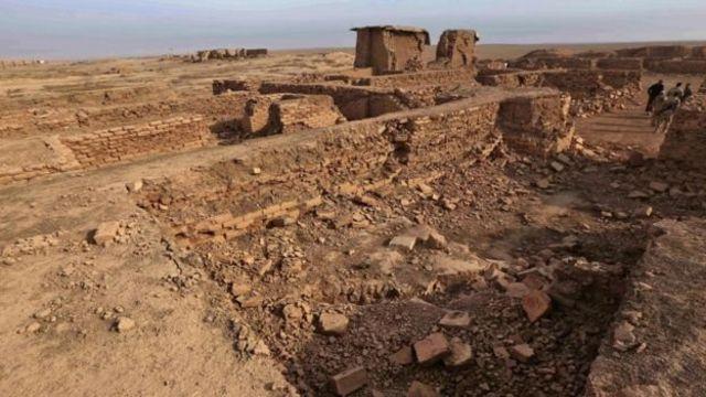 الدمار في موقع مدينة نمرود العراقية الأثرية