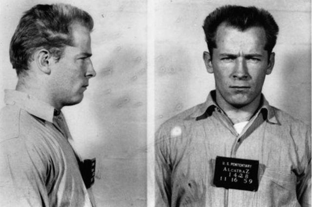 Bulger'ın 1959'da Alcatraz hapishanesinde çekilmiş fotoğrafı