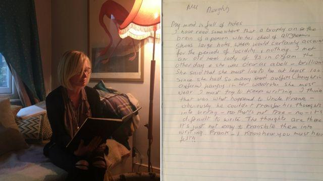 Cate Latto leyendo el diario de su madre