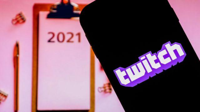 Twitch logo phone.