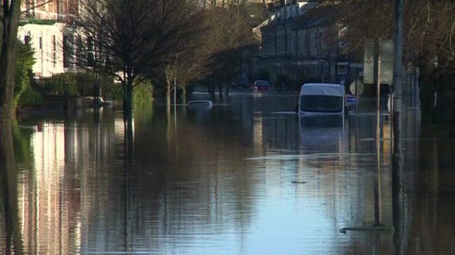 Cars under water in York
