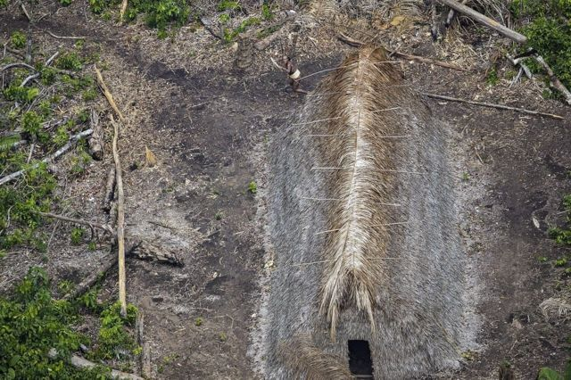 A construction made by the Indians
