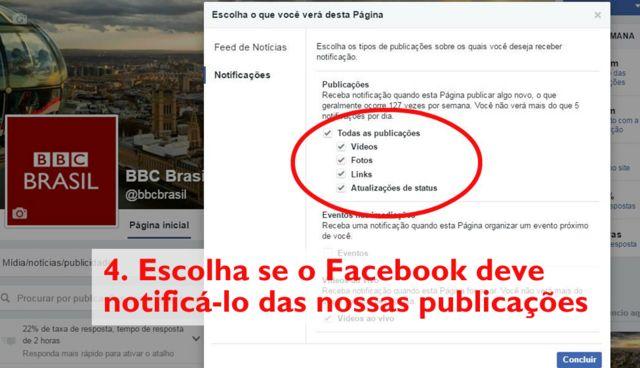 Página da BBC Brasil no Facebook