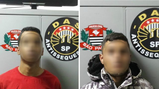 Suspeitos detidos pela polícia