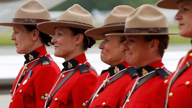 Female Mounties in Canada