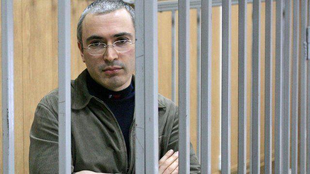 Mikhail Khodorkovsky, durante julgamento