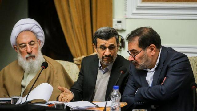احمدی نژاد در جلسه مجمع تشخیص
