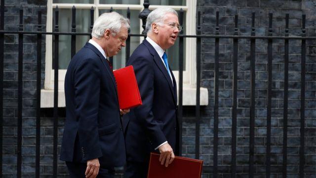 مايكل فالون وزير الدفاع البريطاني المستقيل