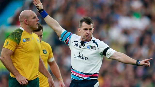 Nigel Owens during the Rugby World Cup Final