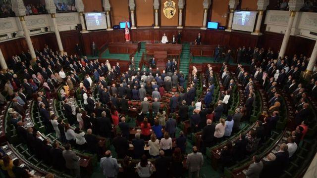 الرئيس التونسي الجديد أمام البرلمان