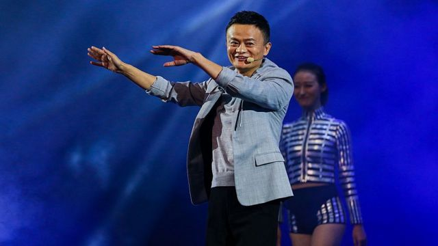 Jack Ma, presidente de Aliubaba durante una actuación