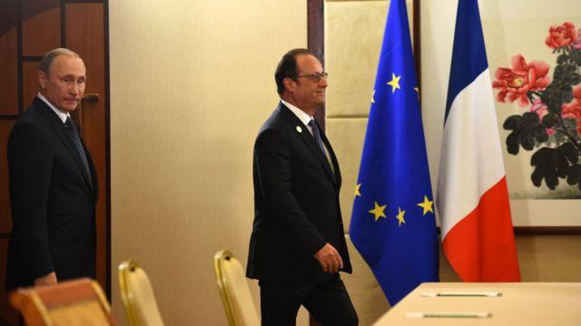 Олланд и Путин