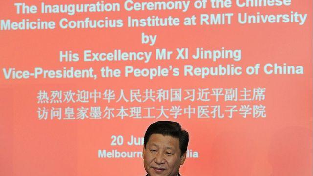 Chủ tịch Trung Quốc Tập Cận Bình tại lễ khánh thành viện Khổng Tử ở đại học RMIT