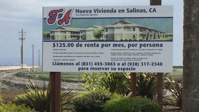 Anuncio de alquiler en Salinas, California