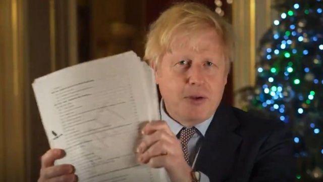 Boris Johnson anlaşmaya varıldığını çoşkulu bir zafer havasında açıkladı
