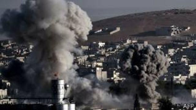 Combates en Kobane.