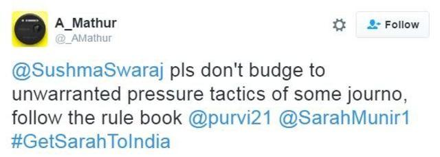 #GetSarahtoIndia