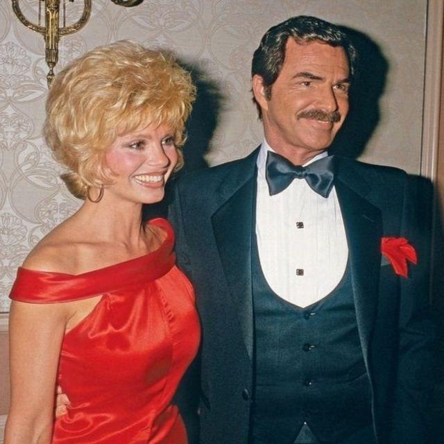 Loni Anderson y Burt Reynolds.