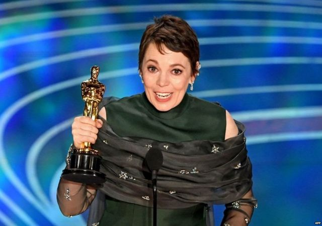 """The British actress gave a heartfelt speech, saying: """"It's genuinely quite stressful. This is hilarious. I got an Oscar!"""""""