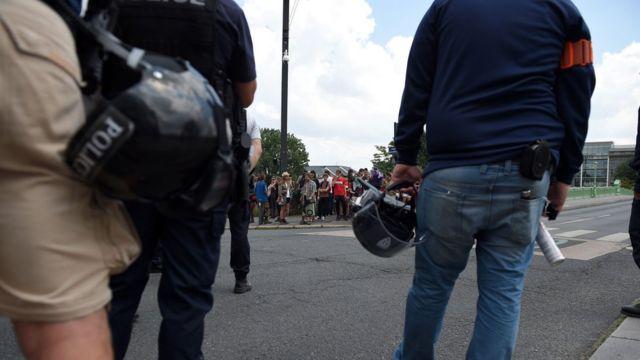 Tensões em Nantes no início de junho
