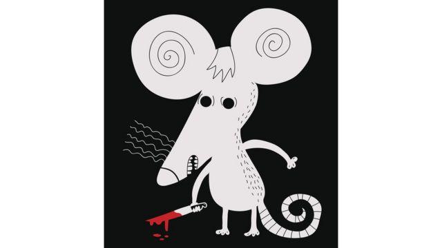 Мышь с ножом в руке
