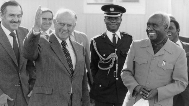 President Kenneth Kaunda na PW Botha