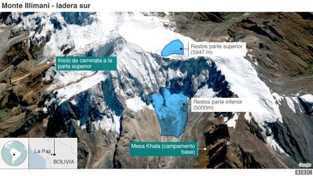 Mapa del Monte Illiamni.